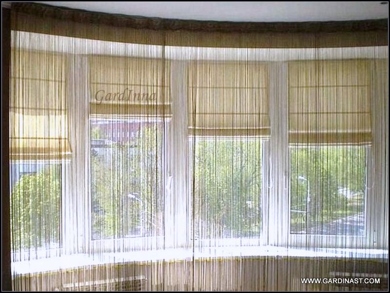 Дизайн штор для балкона, фото римских, японских, рулонных шт.