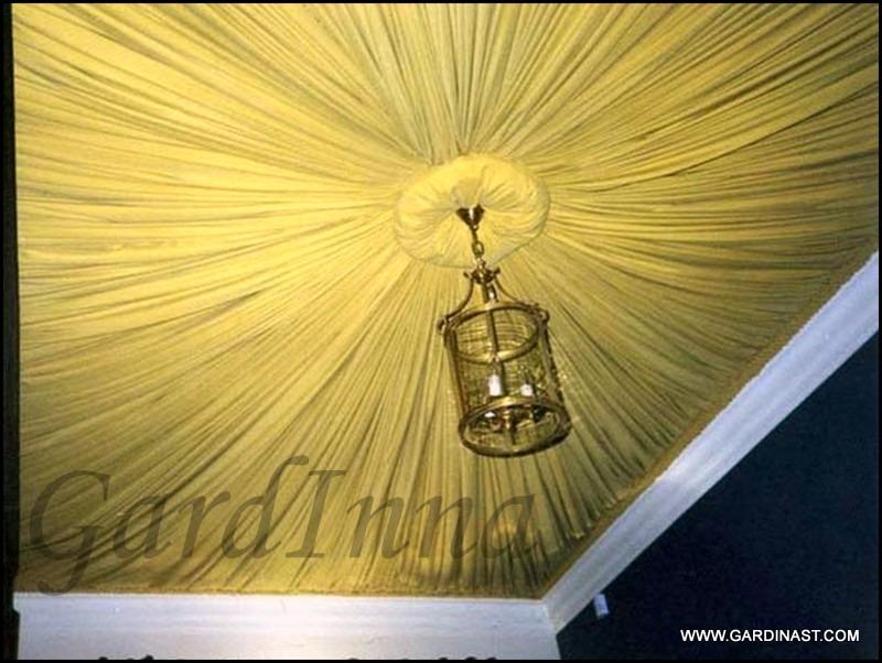 Драпировка потолка тканью своими руками мастер класс фото 79