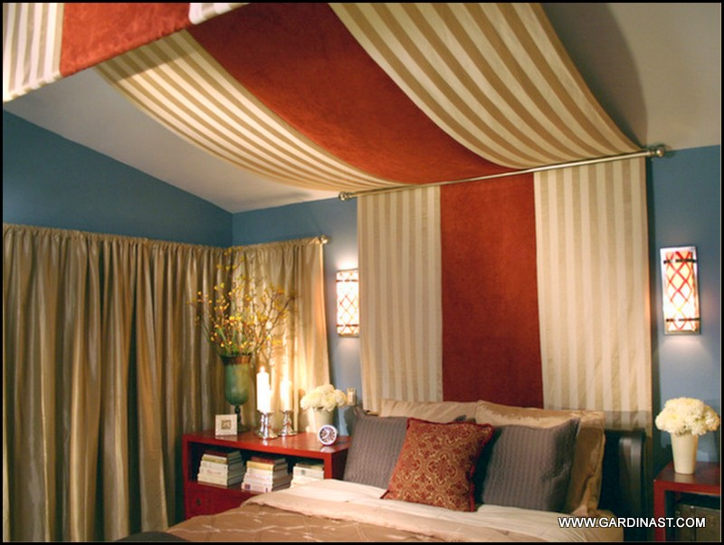 Curtain headboards