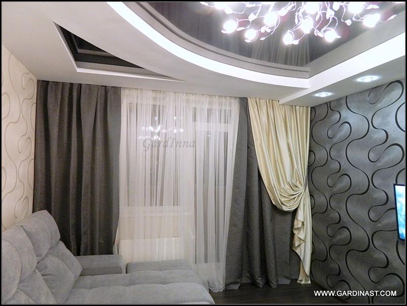 шторы для зала на заказ фото
